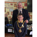 James with the Mayor of Macclesfield, David Edwardes