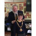 Beau with the Mayor of Macclesfield, David Edwardes