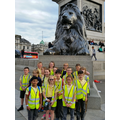 In Trafalgar Square we met a lion!