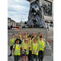 In Trafalgar Square we met a lion!