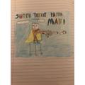 Santi's superhero!