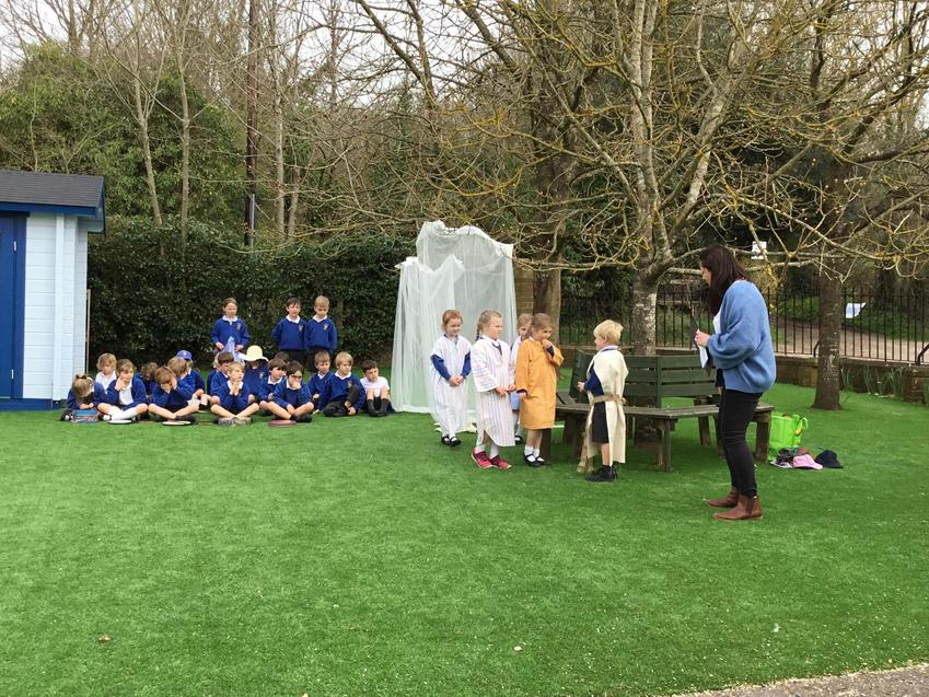 Fox class retold the story of the Resurrection.