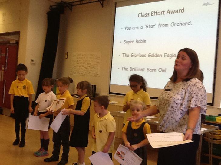 Class effort award winners.