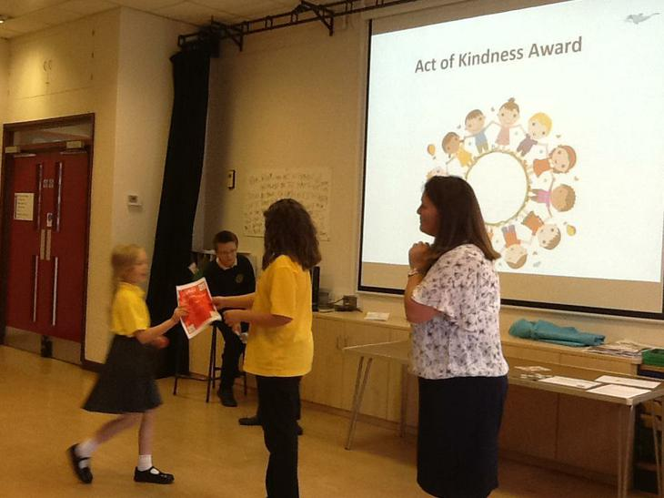 Act of kindness award.