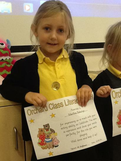 Literacy award winner.