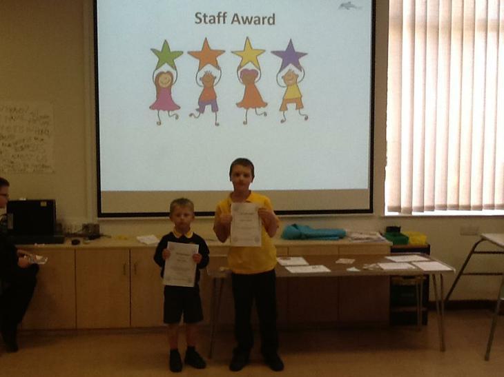 Staff award winners.