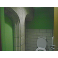 Even the toilets had arches in!