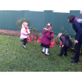 We placed them in our very own poppy garden!