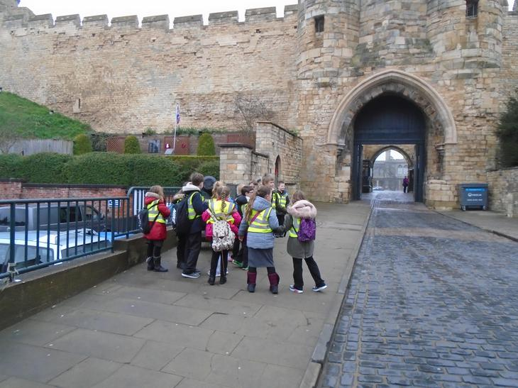 Lincoln castle - Roman or not?