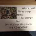 As a class we described the dinosaur we found!