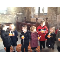 Lighting our Christingles