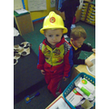 Fireman Declan is ready for action