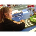 Making our own Menorah candles
