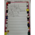 We have been learning how to write a list.