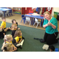 Mrs Devine brought some old toys in to show us.