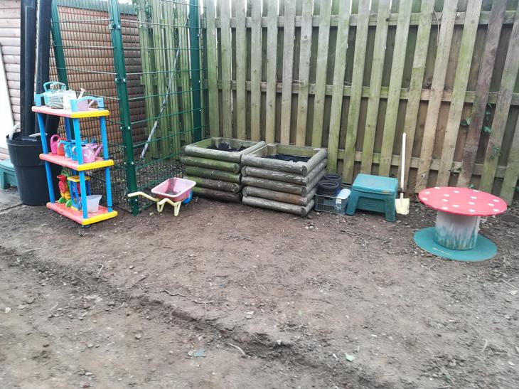 Our new gardening corner