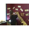 Brushing T-Rex's teeth