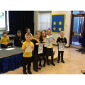 Swimming certificate winners.