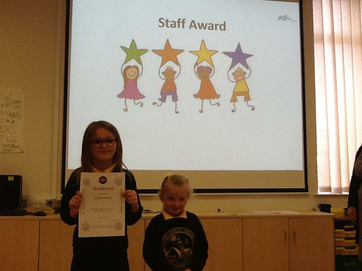 Staff award for being super friendly and caring!