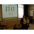 Staff award winners for manners and helpfulness