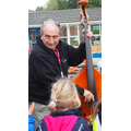 Andy and his double bass in the playground