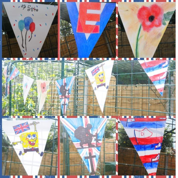 Homemade bunting by Mrs Wills and family.jpg