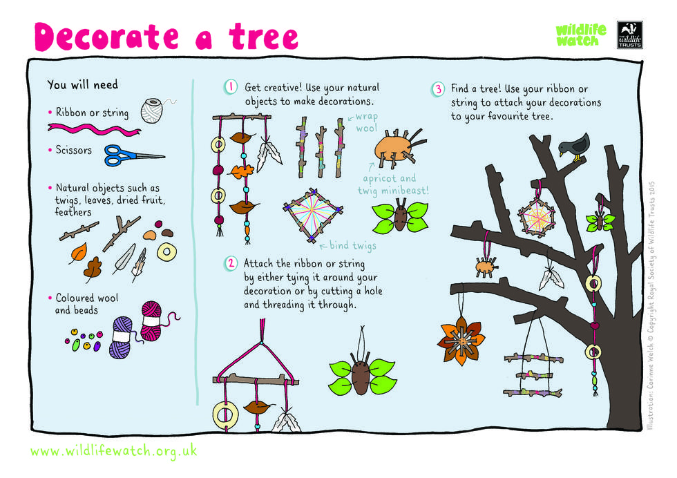 Decorate a tree in your garden