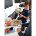 Max (Swallows) busy baking.