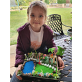 Chloe (Willow) and her miniature garden