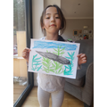 Immy and her lovely tadpole drawing (Wrens).jpg