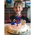 Milo (Willow) celebrating his birthday.