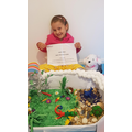 Jennifer and her amazing, competition winning diorama (Hedgehogs).jpg