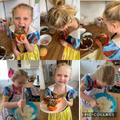 Amelia (Kingfishers) baking cakes