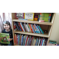 Anabel (Badgers) has a well organised home library.png