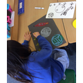 Using oil pastels to create planets