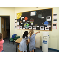 Children very excited to see their work displayed