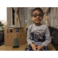 Eyad (Otters) with his model castle