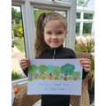 Chloe (Willows) with her picture.jpg