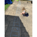 Alice (Swallows) using her own numberline.