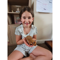 Rosie (Willow) with her new hamster, Cookie.jpg