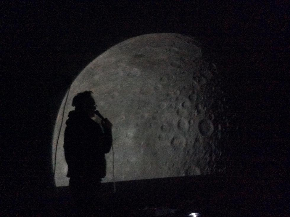 Learning about the Moon inside the Planetarium!