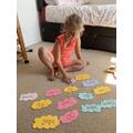 Amelia practising  tricky words (KIngfishers).jpeg