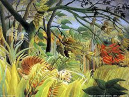 Tiger in a Tropical Storm by Henri Rousseau 1891