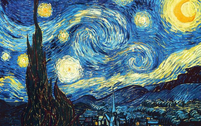 The Starry Night by Vincent van Gogh 1889