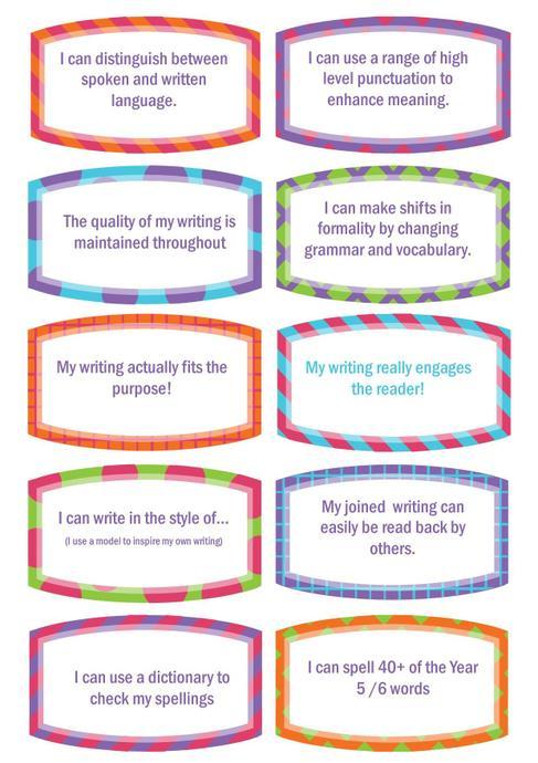 Writing Targets 4
