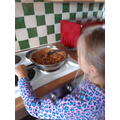 Laura Year 4- Laura's made a mexican food-buritto
