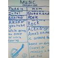 Freddie's music questionnaire