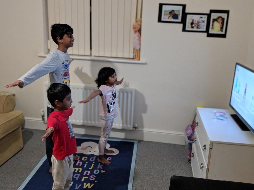 Shreekar and family enjoying PE...