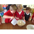 Making bread for the Little Red Hen.