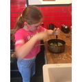 Jessica's cooking - yum!